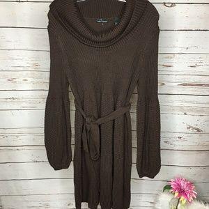 INC Long Sleeve Chunky Knit Sweater Dress XL